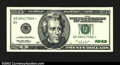 Error Notes:Ink Smears, Fr. 2083-D* $20 1996 Federal Reserve Note. Extremely Fine. ...