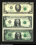 Error Notes:Error Group Lots, Two Offsets and a Miscut, the two offsets being a 1969D $1 ...