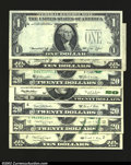 Error Notes:Error Group Lots, A Nice Group of Mixed Errors, including a $1 1974 FRN ...