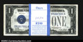 Small Size:Silver Certificates, Fr. 1601 $1 1928A Silver Certificates. Original Pack of 100. ...
