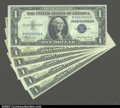 Small Size:Silver Certificates, Some Better Silver certificate Blocks, including 1935 ...