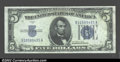Small Size:Silver Certificates, A lot of $5 and $10 Silvers, including $5 1934 (2), 1934D (...