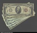 Small Size:World War II Emergency Notes, Hawaii & North Africa Tens, including 3 Hawaii $10 Feds, ...