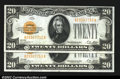 Small Size:Gold Certificates, Fr. 2402 $20 1928 Gold Certificates. Choice Crisp ...