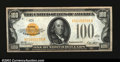 Small Size:Gold Certificates, Fr. 2405 $100 1928 Gold Certificate. Crisp Uncirculated....