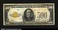 Small Size:Gold Certificates, Fr. 2407 $500 1928 Gold Certificate. Fine.