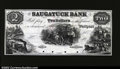 Obsoletes By State:Connecticut, Westport, CT - The Saugatuck Bank $2 1850's G22a Proof...
