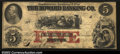 Obsoletes By State:Massachusetts, Boston, MA- The Howard Banking Co. $5 Aug. 23, 1858 C8a...