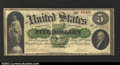 Large Size:Demand Notes, Fr. 1 $5 1861 Demand Note Choice Fine. A solid, problem-...