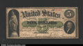 Large Size:Demand Notes, Fr. 2 $5 1861 Demand Note Choice Very Fine. A lovely ...