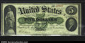 Large Size:Demand Notes, Fr. 3 $5 1861 Demand Note CGA Very Fine 30. A solid, ...
