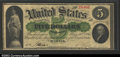 Large Size:Demand Notes, Fr. 5 $5 1861 Demand Note CGA-Very Fine 35. Only nine Fr. ...
