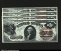 Large Size:Legal Tender Notes, Fr. 29 $1 1880 Legal Tenders Cut Sheet of Four Gem New. ...