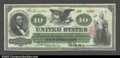 Large Size:Legal Tender Notes, Fr. 93 $10 1862 Legal Tender Very Choice New. A beautiful ...