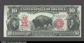 Large Size:Legal Tender Notes, Fr. 122 $10 1901 Legal Tender Star Note Choice About New. ...