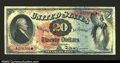 Large Size:Legal Tender Notes, Fr. 127 $20 1869 Legal Tender Extremely Fine-About New. ...