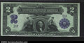 Large Size:Silver Certificates, Fr. 251 $2 1899 Silver Certificate Serial Number 1 CGA Gem ...