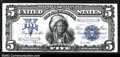 Large Size:Silver Certificates, Fr. 281 $5 1899 Silver Certificate Gem New. This pretty ...