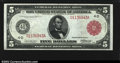Large Size:Federal Reserve Notes, Fr. 835b $5 1914 Red Seal Federal Reserve Note Superb Gem ...