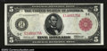 Large Size:Federal Reserve Notes, Fr. 836b $5 1914 Red Seal Federal Reserve Note Gem New. ...
