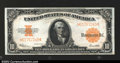 Large Size:Gold Certificates, Fr. 1173 $10 1922 Gold Certificate Gem New Very well ...