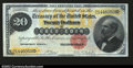 Large Size:Gold Certificates, Fr. 1178 $20 1882 Gold Certificate Choice About New. Broad,...
