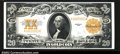 Large Size:Gold Certificates, Fr. 1187 $20 1922 Gold Certificate Very Choice New. A ...