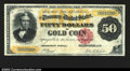 Large Size:Gold Certificates, Fr. 1193 $50 1882 Gold Certificate Extremely Fine-About New....