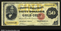 Large Size:Gold Certificates, Fr. 1193 $50 1882 Gold Certificate Choice Very Fine. This ...