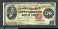 Large Size:Gold Certificates, Fr. 1197 $50 1882 Gold Certificate Extremely Fine Well ...