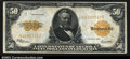 Large Size:Gold Certificates, Fr. 1200 $50 1922 Gold Certificate Very Fine. A well ...