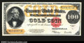 Large Size:Gold Certificates, Fr. 1215 $100 1922 Gold Certificate About New. This is a ...