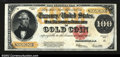 Large Size:Gold Certificates, Fr. 1215 $100 1922 Gold Certificate About New. This ...