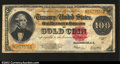 Large Size:Gold Certificates, Fr. 1215 $100 1922 Gold Certificate Fine. Solid for the ...