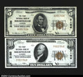 National Bank Notes:Alabama, Birmingham, AL- $5 Ty. 1, $10 Ty. 1 The First NB Ch. # ...