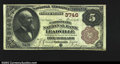 National Bank Notes:Colorado, Leadville, CO- $5 1882 Brown Back Fr. 470 The Carbonate ...