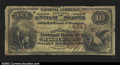National Bank Notes:District of Columbia, Washington, DC- $10 1882 Brown Back Fr. 484 The Lincoln ...