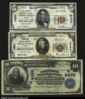National Bank Notes:Kansas, A Trio of Independence Notes, including;