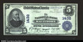 National Bank Notes:Maryland, Baltimore, MD- $5 1902 Plain Back Fr. 598 The NB of ...