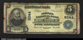 National Bank Notes:Maryland, Brunswick, MD- $5 1902 Plain Back Fr, 599 Peoples NB ...