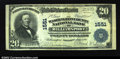 National Bank Notes:Maryland, Williamsport, MD - $20 1902 Plain Back Fr. 651 The ...