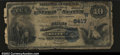 National Bank Notes:Oklahoma, Roff, OK- $10 1882 Date Back Fr. 546 The First NB Ch. #...