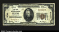 National Bank Notes:Pennsylvania, Genesee, PA- $20 1929 Ty. 1 The First NB Ch. # 9783