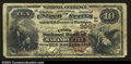 National Bank Notes:Pennsylvania, Mahanoy City, PA- $10 1882 Brown Back Fr. 483 The Union ...