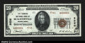 National Bank Notes:Pennsylvania, McAlisterville, PA- $20 1929 Ty. 2 The Farmers NB Ch. #...