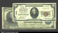 National Bank Notes:Pennsylvania, Montrose, PA- $20 1902 Plain Back Fr. 657, $20 1929 Ty. 1 ...