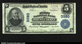 National Bank Notes:Pennsylvania, Mount Carmel, PA- $5 1902 Plain Back Fr. 600 The First ...
