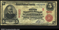 National Bank Notes:Pennsylvania, Warren, PA- $5 1902 Red Seal Fr. 587 The First NB Ch. #...