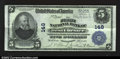 National Bank Notes:Pennsylvania, West Chester, PA- $5 1902 Plain back Fr. 598 The First ...