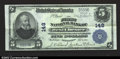 National Bank Notes:Pennsylvania, West Chester, PA- $5 1902 Plain Back Fr. 598The First NB...
